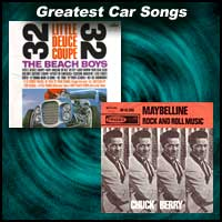 "record sleeves for ""Little Deuce Coupe"" and ""Maybellene"""