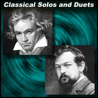 Classical composers Ludwig Van Beethoven and Claude Debussy