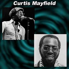 2 images of Curtis Mayfield