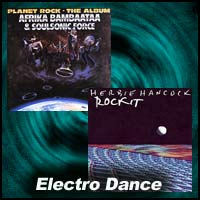 Planet Rock and Rockit album covers