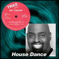Mr. Fingers vinyl record lable and Frankie Knuckles