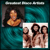 disco singers Donna Summer and the Bee Gees