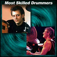 drummers Dave Weckl and Vinnie Colaiuta
