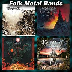 four folk metal album covers