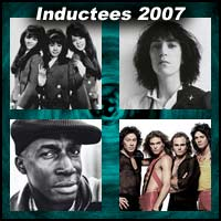 Rock and roll artists The Ronettes, Patti Smith, Grandmaster Flash, Van Halen