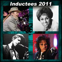 Rock and roll artists Dr. John, Darlene Love, Tom Waits, and Alice Cooper