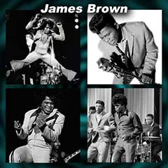 James Brown performing in 4 pictures