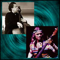Jazz bassists Charles Mingus and Jaco Pastorius