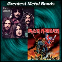 Black Sabbath, Iron Maiden album covers
