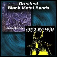 Black Metal Bands Bathory and Emperor album covers