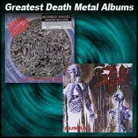 Album covers Altars Of Madness by Morbid Angel and Human by Death
