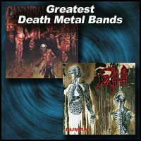 "Death Metal Bands ""Cannibal Corpse"" and ""Death"" album covers"