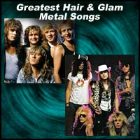 Hair Metal bands Def Leppard, Guns N' Roses