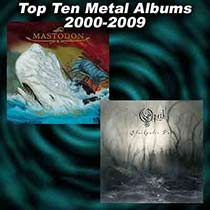Leviathan by Mastodon and Blackwater Park by Opeth album covers