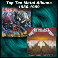 The Number of the Beast and Master of Puppets album covers