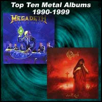 Rust In Peace by Megadeth and Still Life by Opeth album covers