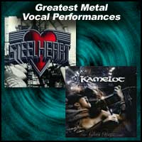 album covers for Steelheart and Kamelot