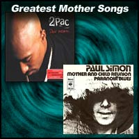 record sleeves for Dear Mama by 2pac and Mother and Child Reunion