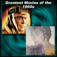 Images from the movies Lawrence of Arabia and Psycho