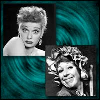 Comedic Actresses Lucille Ball and Carol Burnett