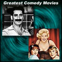 Scenes from comedy movies Duck Soup and Some Like It Hot
