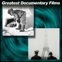 "Scenes from documentary films ""Nanook of the North"" and ""Olympia 1."""