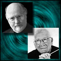 Movie music score composers John Williams and Jerry Goldsmith