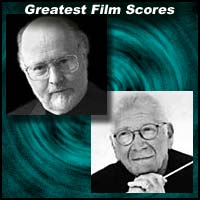 Film score composers John Williams and Jerry Goldsmith