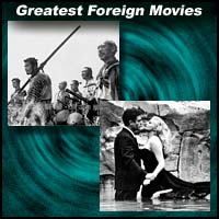 "Scenes from foreign movies ""The Seven Samurai"" and ""La Dolce Vita"""