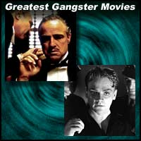Scenes from gangster movies The Godfather and White Heat
