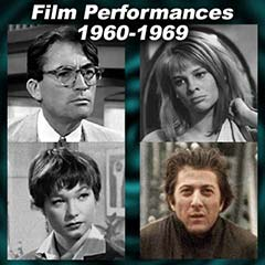 Movie acting performances for each year 1960-1969