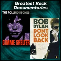 DVD covers for Gimme Shelter and Don't Look Back
