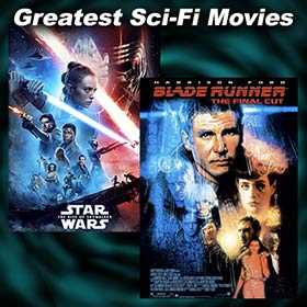 Scenes from Sci-Fi movies 2001: A Space Odyssey and The War of the Worlds