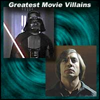 Movie villains Darth Vader and Anton Chigurh