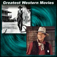 Scenes from western movies High Noon and The Searchers