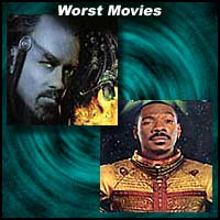 Scenes from movies Battlefield Earth and The Adventures Of Pluto Nash