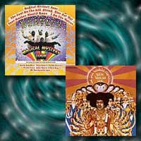 album covers for Magical Mystery Tour and Axis: Bold as Love