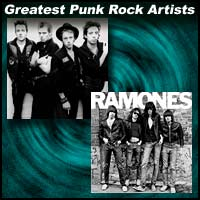 Punk bands The Clash, The Ramones