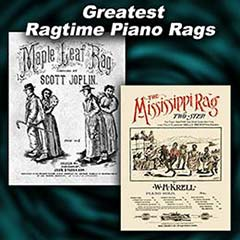 Two Ragtime piano sheet music covers