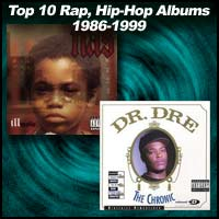 Rap albums Illmatic and The Chronic