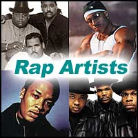 Rappers Run-D.M.C., Dr. Dre, LL Cool J, Sugarhill Gang