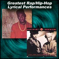 CD covers Set It Off by Big Daddy Kane, Let the Rhythm Hit 'Em by Eric B. and Rakim