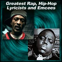 Rap lyricists Rakim and Notorious B.I.G.