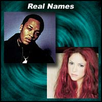 Music Stars Real Names