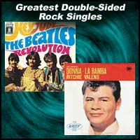 La Bamba and Hey Jude single record sleeves