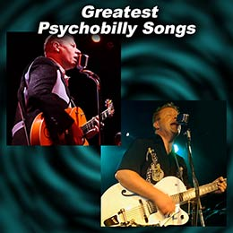Psychobilly singers The Reverend Horton Heat and Hillbilly Hellcats