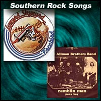 Lynyrd Skynyrd and Allman Brothers Band record sleeves