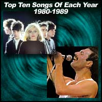 Top Ten Songs Of Each Year 1980-1989