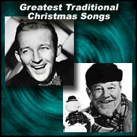 "Page identification image showing Bing Crosby and Burl Ives with text title ""Greatest Traditional Christmas Songs"""