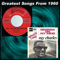 record cover art for Will You Love Me Tomorrow by the Shirelles and Georgia On My Mind by Ray Charles